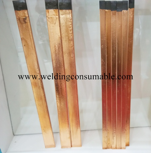 Copper Coated Flat Carbon Electrodes