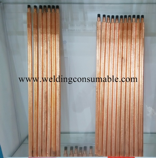 Jointed Copper Coated Carbon Electrodes